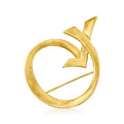 C. 1990 Vintage Jewelry Paloma Picasso 18kt Yellow Gold Xo Pin