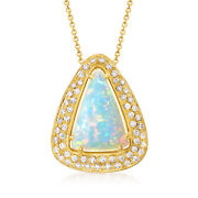 Vintage Opal And Diamond Necklace In 18kt Gold 18