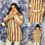 Handmade Pink Mink Fur Jacket Made In Italy Haute Couture Mink Coat