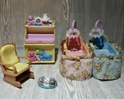 Fisher Price Loving Family Nursery Furniture Dollhouse Mansion Changing Cradle