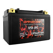 Banshee Replacement Ytx12a-bs Li-ion Motorcycle Battery Suzuki Abs Sv650 2007
