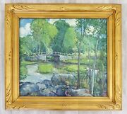 Antique Post Impressionist Framed Oil Board Painting Signed Charles Reiffel 1930
