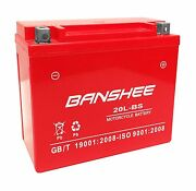 Motorcycle Battery Ytx20l-bs For Honda Wing 1800cc Gl1800 Gold, 4 Year Warranty