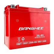 Agm Battery Fits Yamaha Grizzly 660 Yfm660f 4wd 2002-2008 By Banshee