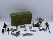 Vintage German Singer Attachments Box For Sewing Machines Simanco 12pc Lot W/box