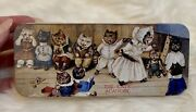Louis Wain Collectible Hinged Lid Tin Box Cats Academy Kittens Ms.tabitha