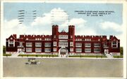 Postcard Grover Cleveland High School Grand Ave And Osceola St St Louis Mo 1915