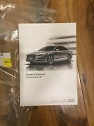2016 Audi A8/s8 Owners Manual