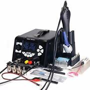 Yihua 853d 5a-ii 3 In 1 Hot Air Rework Soldering Iron Station And Dc Power Suppl