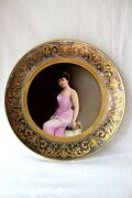Antique Royal Vienna Portrait Cabinet/wall Plate 19th Century