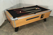 7and039 Valley Coin-op Pool Table Model Zd7 With Black Cloth Also Avail In 6 1/2and039 8and039