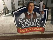 Vtg Very Large Samuel Adams Boston Lager Mirror Sign For Love Of Beer 42.5andrdquox32andrdquo