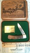 Schrade Usa Vintage 1988 Federal Duck Stamp Limited Edition Knife In Wood Box