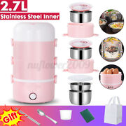 220v Electric Heating Lunch Box Food Storage Warmer Container Steamer 4 Layer