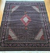 Silk And Wool Sino Chinese 8and039x10and039 Fish/mahi Design Hand Knotted Oriental Rug