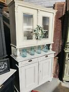 Rustic Farmhouse Hutch Cabinet Cupboard Cottage Chic Shabby Chic