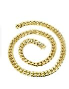 Solid 10k Gold 5mm Classic Miami Cuban Available In 22 24 And 26 Inches