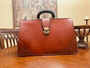 Old English Tan Bridle Leather Lawyers / Doctors Briefcase - Made In England