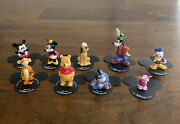 Lot Of 9 Miniature Disney Store Bone China Figurines Collection Mickey Mouse