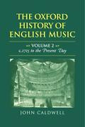 The Oxford History Of English Music Volume 2 Learn Play Music Book [binded]