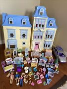Vintage Fisher Price Loving Family Dollhouse Furniture Accessories People 60 Pcs