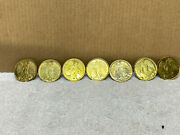 7 Vintage Christian Gold Colored Religious Angel Wings Halo Coin Medals