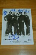 The Spinners Entire Band Autographed Vintage B/w 8x10 Photo Beckett Loa Rare