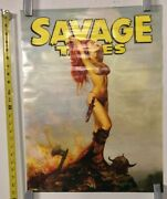 Vintage Poster Savage Tales 2007 Dynamite Entertainment Rolled Red Sonja