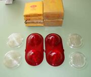 1950 - 1952 Buick Tail Lamp Parking And Backup Lenses .nors Glo-brite In Boxes