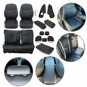 For 2010 2011 2012 2013 2014 2015 Toyota Prius New Black Seat Covers Full Kits