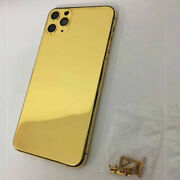 24k Gold Plated Limited Edition Back Housing Cover For Iphone 11 12 Pro Max Mini
