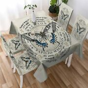 Death Moth Insect Witchcraft Rectangle Tablecloth Chair Covers Dining Table Set
