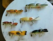 Lot Of Six 6 Deep Diver Lures Bomber Water Dogs And Whopper Stopper Hellbenders