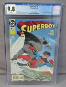Superboy 9 King Shark 1st Appearance Cgc 9.8 Nm/mt Dc Comics 1994 White Pages