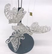 Spun Glass Butterfly Ornaments Vintage Christmas Beautiful Lot Of 3 Figurines