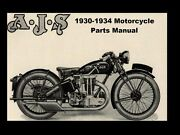 Ajs Matchless 1930-1934 Parts Manuals 500pg For 1931 1932 1933 Motorcycle Repair