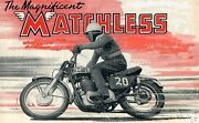 Matchless Workshop And Service Manuals 110pgs With Motorcycle Overhaul And Repair
