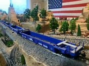 Ho Scale Walthers Thrall 5 Unit Rebuilt 40' Well Car Spl2022 Metal Wheels New
