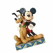 Disney Traditions By Jim Shore Mickey Mouse And Pluto Stone Resin Figurine, 6¡±