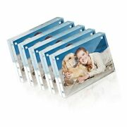 Picture Frame, Twing 4x6 Inch 5 Pack Acrylic Photo Frames Horizontal Magnet D...