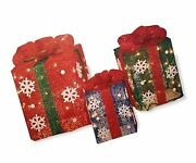 Light Up Gift Boxes Set Of 3 Outdoor Christmas Decorations. 14 12 And 10 B...