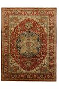 Hand-made 9and0391 X 12and0390 Indo Serapi | Fine Collection Hand-knotted Wool 9x12 A...