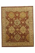 Hand-made 7and03910 X 9and0399 Finest All-over Serapi Hand-knotted Wool 8x10 Area Rug