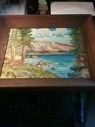 Landscape Oil Painting By G. Stanley Listed Artist 1966 10 By 13