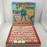 Vintage Superman Match Ii Board Game 1979 Ideal Toy Dc Comics