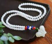 Chinese Natural Hetian Jade Hand Carved Exquisite Necklaces 4900