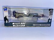Newray 1941 Jeep Willys Wwii Military U.s. Army Diecast Green 132 Fast Shipping