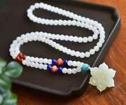 Chinese Natural Hetian Jade Hand Carved Exquisite Necklaces 4898