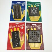 New Vintage Travel Strategy Puzzle Game 80's Made In Usa Rare Wood - Lot Of 4