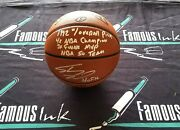 Shaquille O'neal Signed Spalding Nba Game Basketball Beckett Bas Multi Inscribed